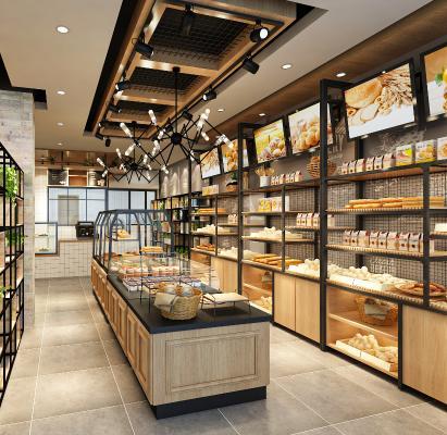 工业甜品面包店