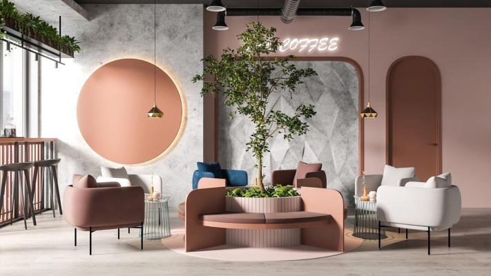 现代轻奢网红咖啡厅