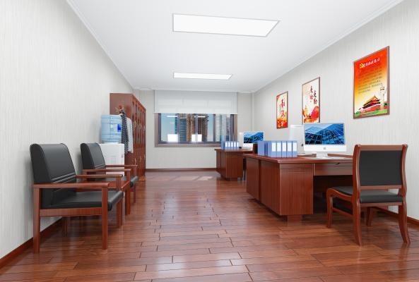 新中式办公室 办公桌椅
