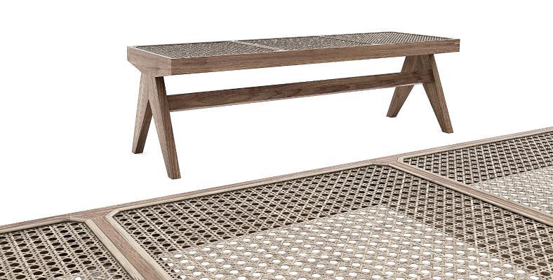 北欧藤编编织,长条凳换鞋凳