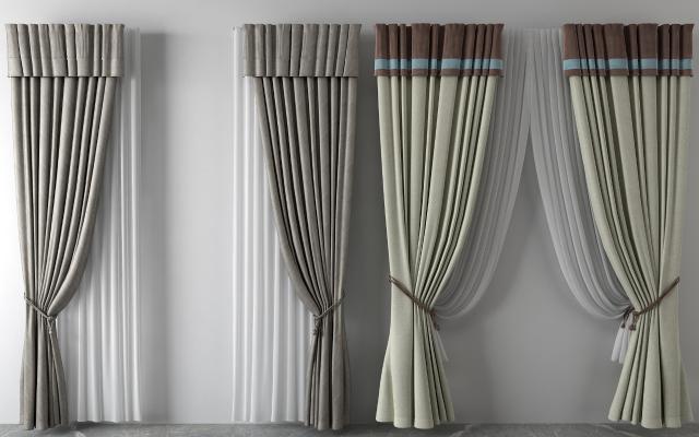 欧式窗帘 纱帘 双层帘