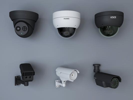 现代风格监控 摄像头 电子眼