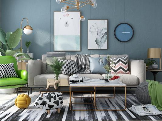 北欧风格组合沙发