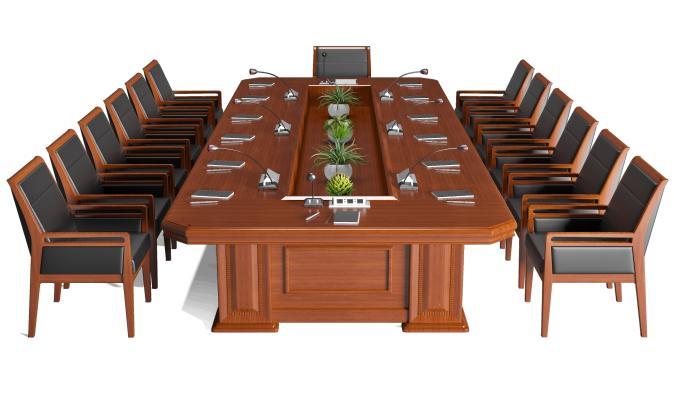 现代会议桌椅组合 洽谈桌椅