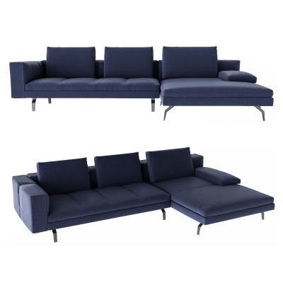 现代简约转角沙发 多人沙发