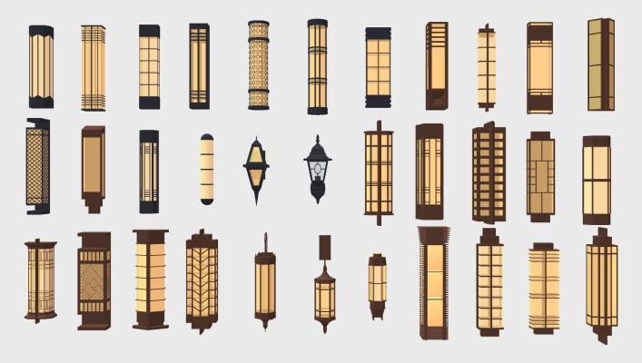 新中式壁灯 壁灯 照明灯