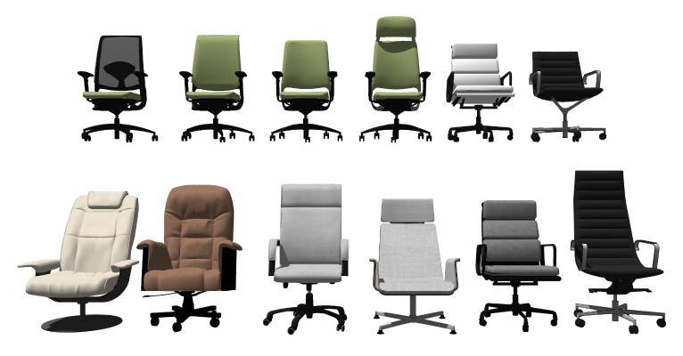 现代电脑椅 办公椅组合 转椅
