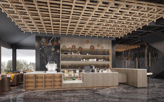 現代輕奢咖啡店