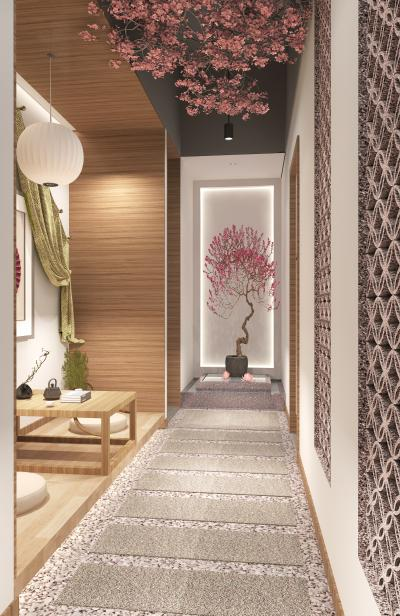 新中式会所走廊
