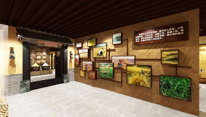 新中式展厅村史馆 粮仓 实物展示