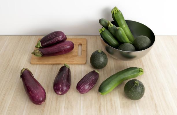 现代蔬菜茄子笋瓜