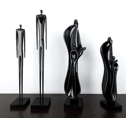 现代艺术人物摆件