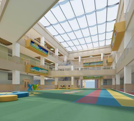 现代幼儿园中庭空间