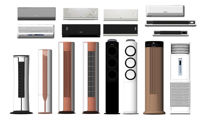 现代空调柜机 挂机组合
