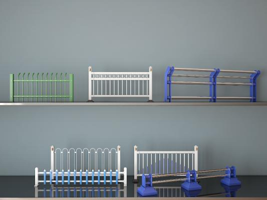 现代路障围栏市政护栏