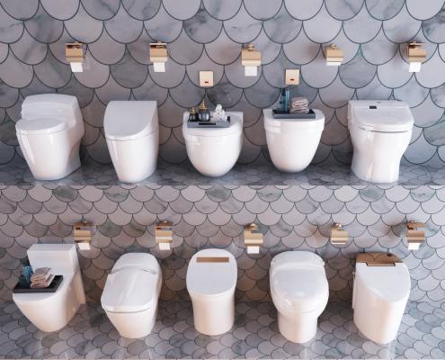 现代卫生间智能马桶 坐便器组合