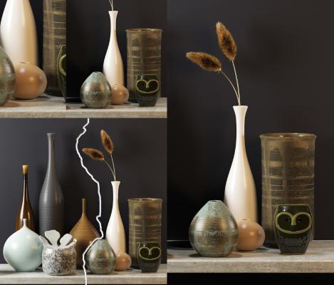 现代花瓶装饰品
