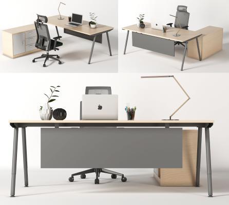 现代办公桌 工作位 员工位