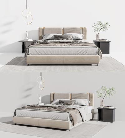 現代輕奢雙人床