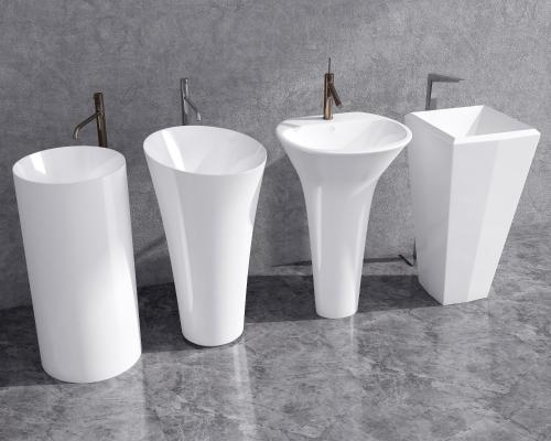 现代立式洗手台 落地盆 立盆