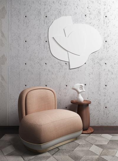 现代沙发 边几组合