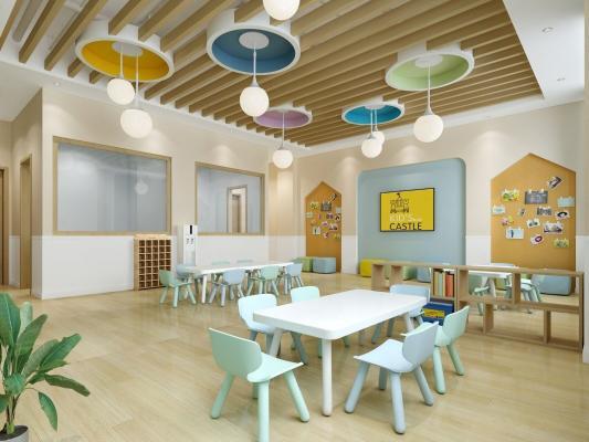 现代幼儿园 活动室