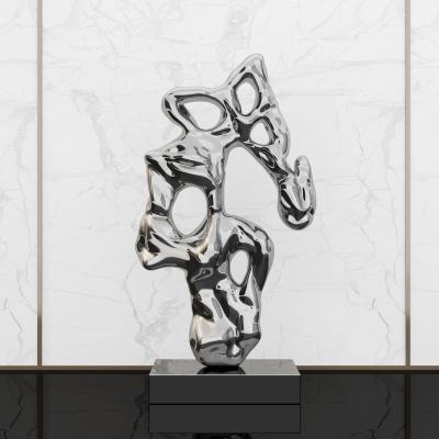 新中式不锈钢雕塑
