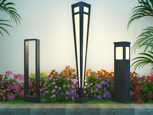 现代室外草坪路灯