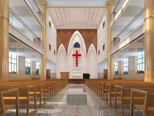 现代基督教堂 天主教堂 十字架
