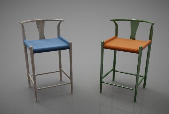 新中式风格吧椅