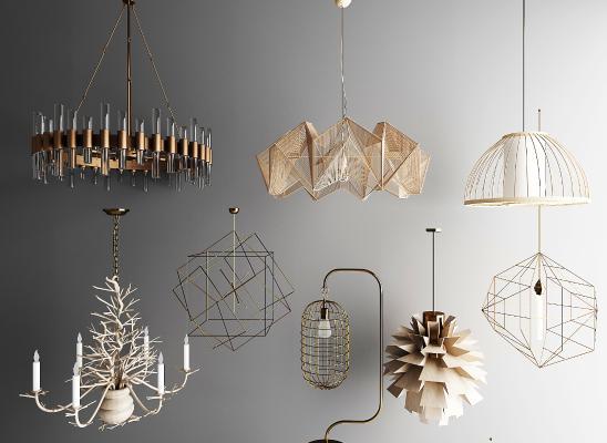 北欧吊灯 金属灯 玻璃灯