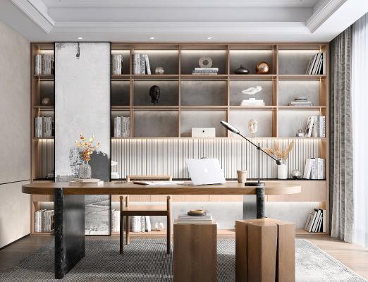 现代书房 茶室
