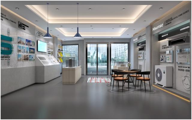现代空调专卖店 展厅