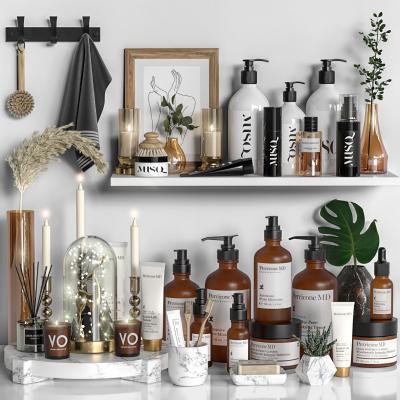 现代洗漱用品组合 化妆品 洗涤用品