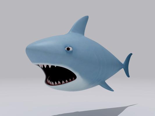 卡通小鲨鱼