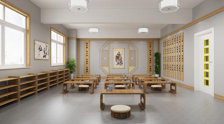 新中式幼儿园 教室 早教