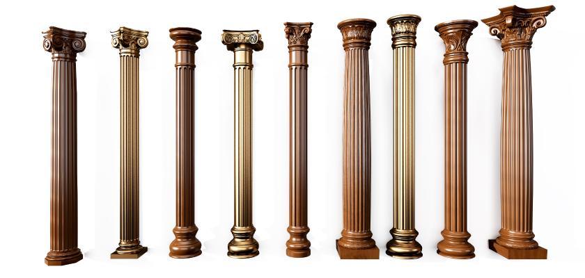 欧式古典罗马柱组合