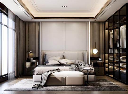 現代簡約臥室