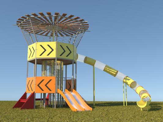 现代儿童游乐塔