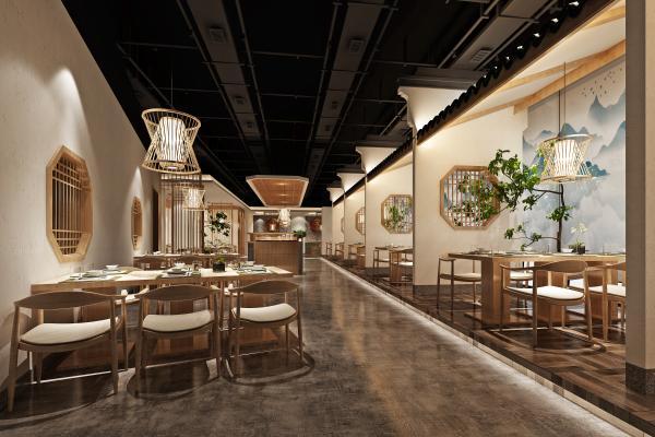 新中式中餐厅火锅店