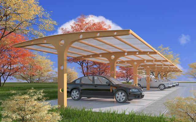 现代膜结构停车棚