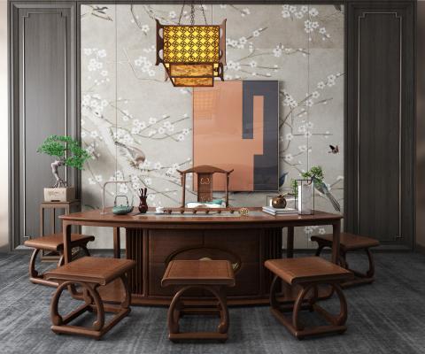新中式茶桌 大班台