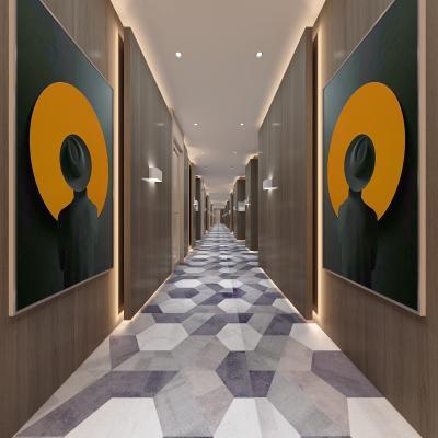 现代酒店走廊过道