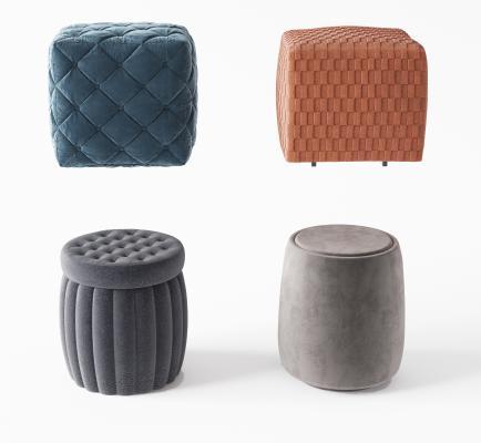 现代布艺床尾凳 沙发凳 发