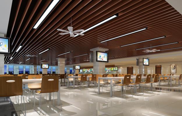 现代食堂大餐厅