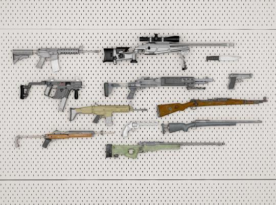 现代武器墙 狙击枪 步枪