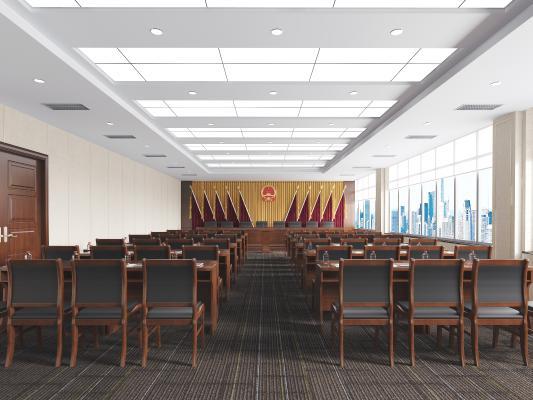 现代会议室 培训教室 会议桌椅