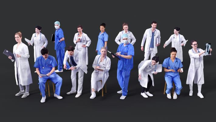 现代人物 医院人物 医生护士