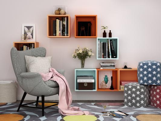 现代沙发椅 装饰品