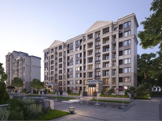 新古典多层住宅 建筑外观